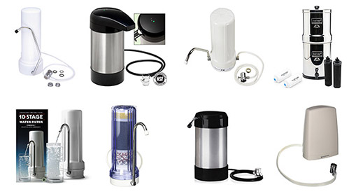 countertop-water-filter-review-compilation-smaller - types of water filters