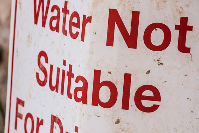 water not suitable for drinking