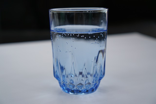 a small glass of water