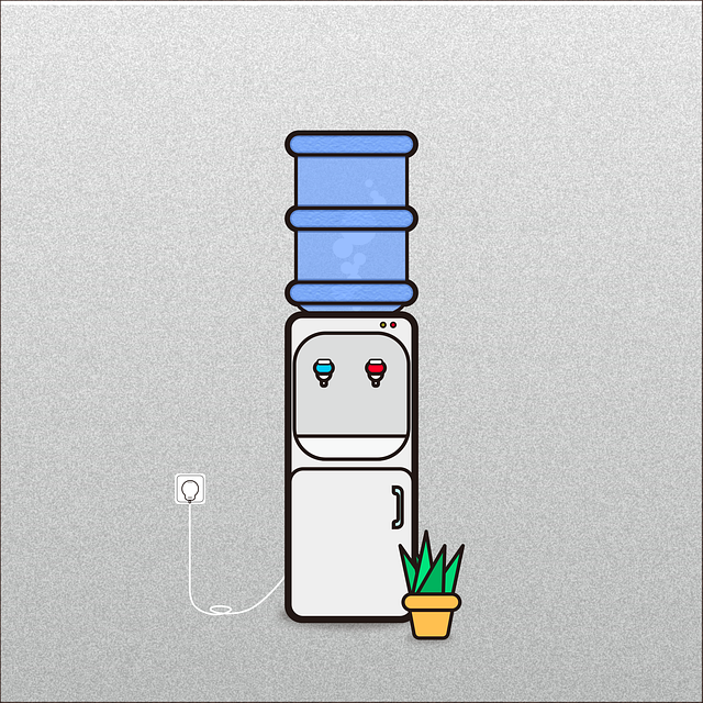 graphic illustration of a water dispenser